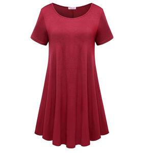 Dresses & Skirts - Tunic Short Sleeve T-Shirt Swing Dress